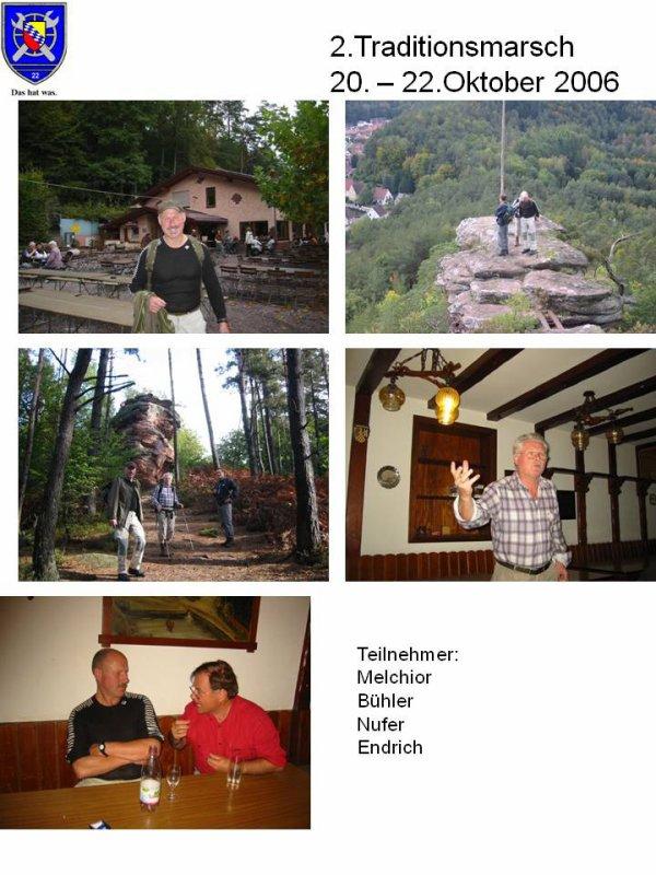 2. Traditionsmarsch Hauenstein Südpfalz vom 20. - 22.Oktober 2006
