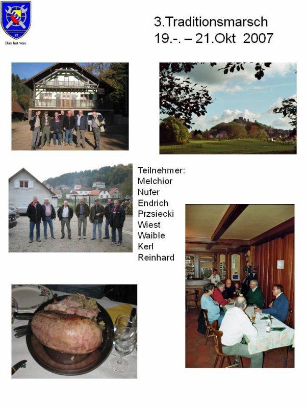 3. Traditionsmarsch vom 19.- 21.Oktober 2007  Vogesen