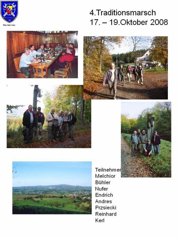 4. Traditionsmarsch  17.- 19.Oktober 2008 Odenwald