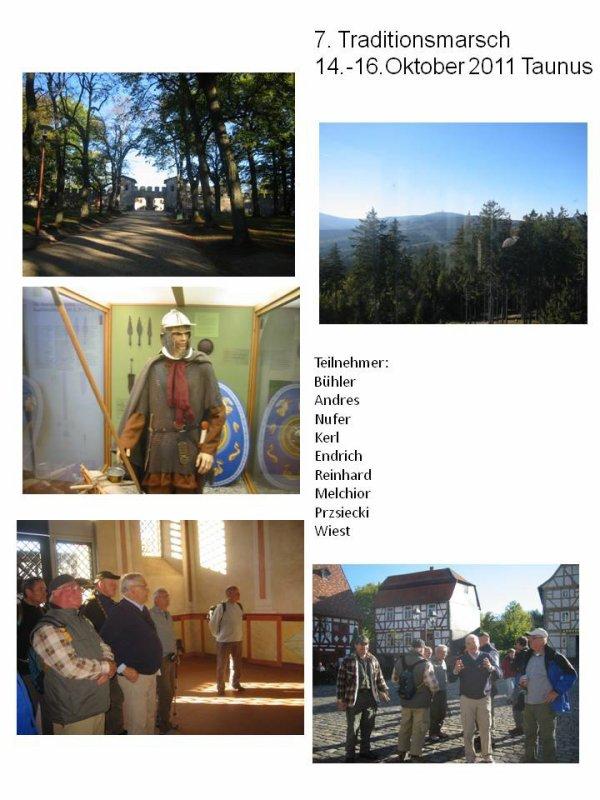 7. Traditionsmarsch 14.-16. Oktober 2011 Taunus