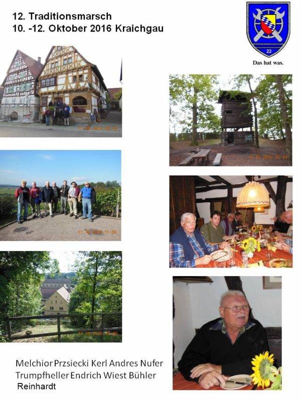 12. Traditionsmarsch Lienzingen 10.-12. Oktober 2016