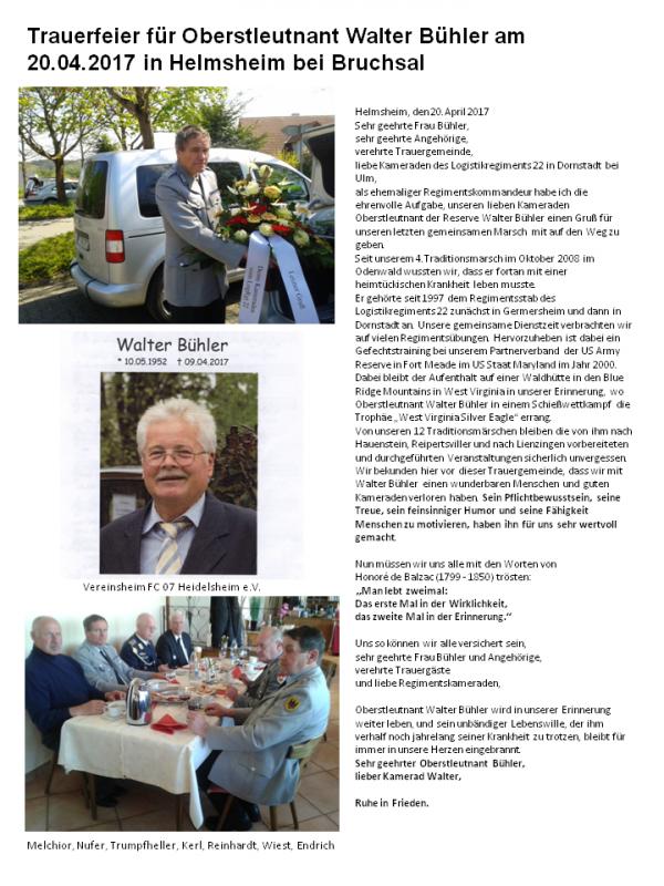 Walter Bühler 09.April 2017