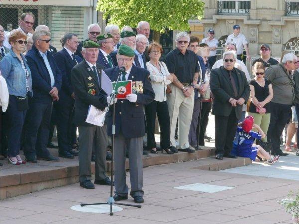 Commémoration du 155 anniversaire du combat de Camerone am 05.Mai 2018 in Forbach