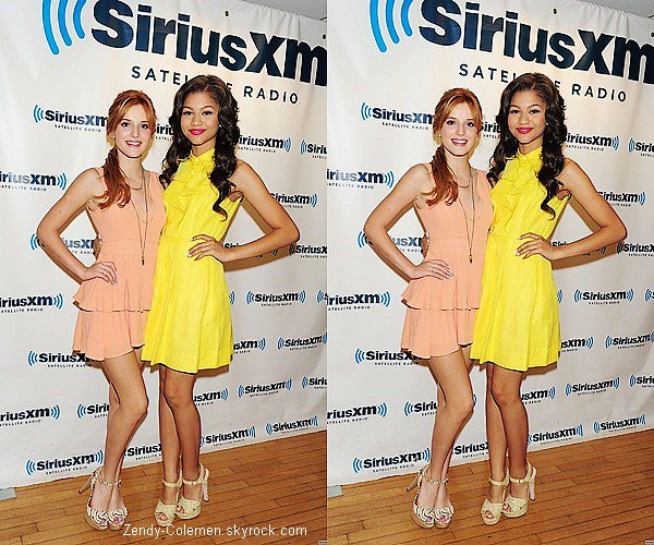 . 2 Août : Zendaya & Bella, se sont rendu à la station de radio«Sirius XM Radio».  .
