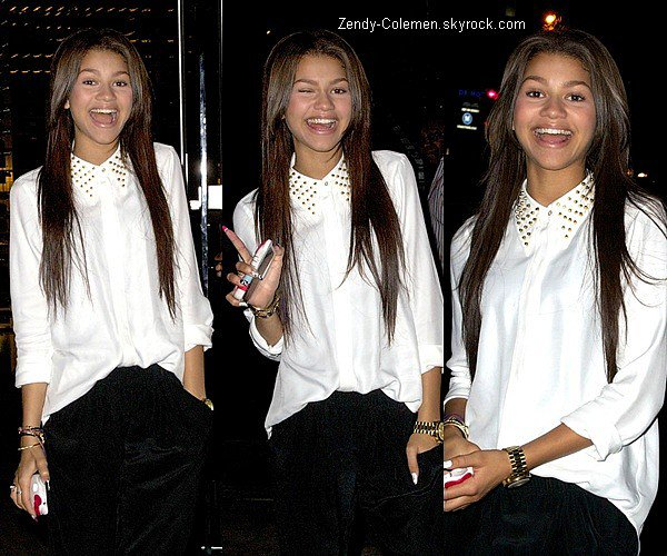 .12.06.2012 : Zendaya et son papa quittait le restaurant Boa Steakhouse,West Hollywood..