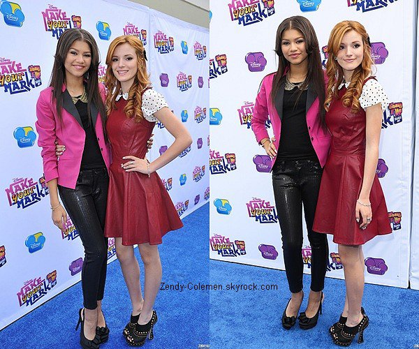 .06.10.2012 : Zendaya C. & Bella ont étaient vu « Make Your Mark : Shake It Up Dance Off 2012 », Los Angeles..