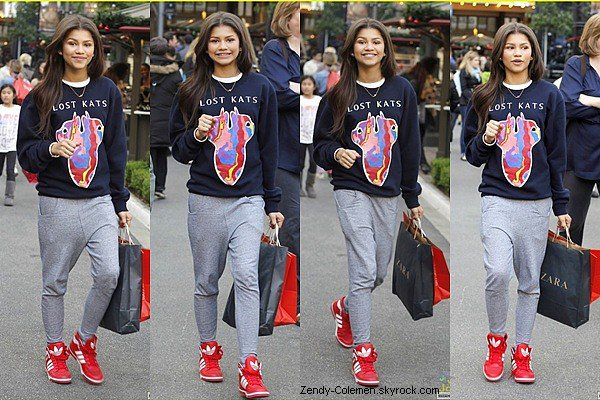 .10.11.2012 : Zendaya Coleman,et sa cousine son allée faire du shopping à The Grove,Los Angeles..