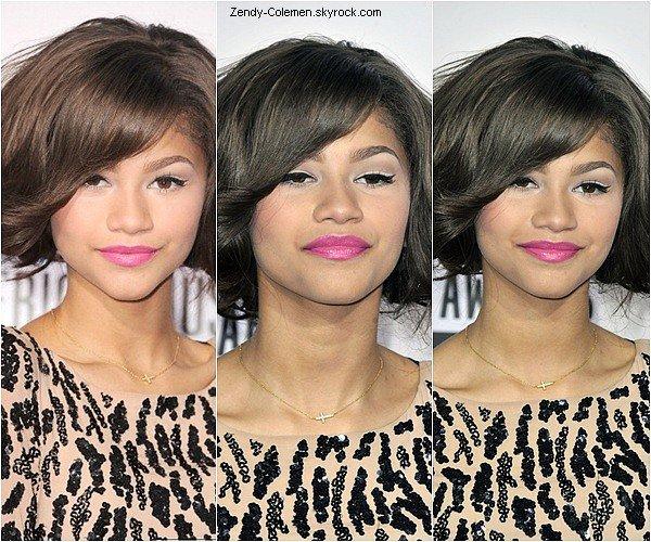 .18.11.2012 : Zendaya plus belle que jamais, à été vu au «American Music Awards»,qui s'es déroulé à Los Angeles. .