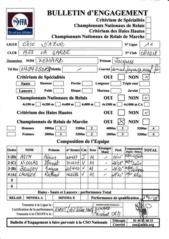 L'AJS LA GARDE HOMMES AUX FRANCE DE RELAIS MARCHE?