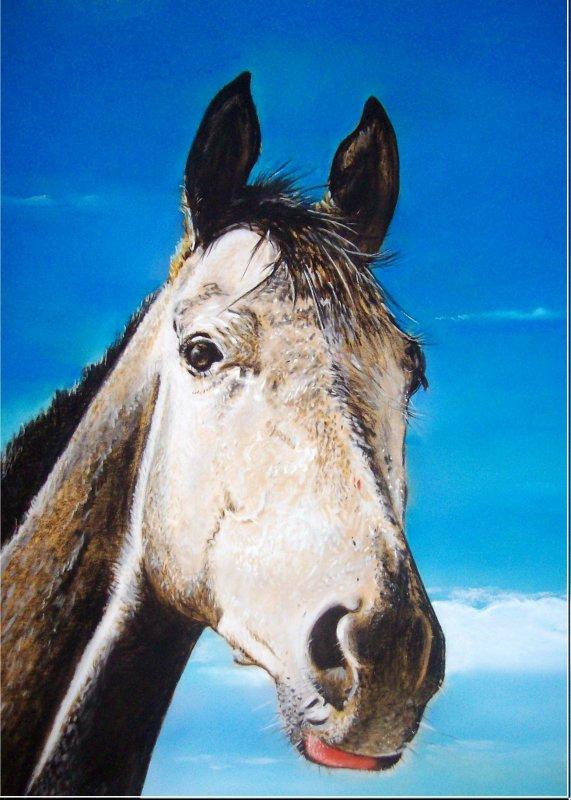 Le cheval gris