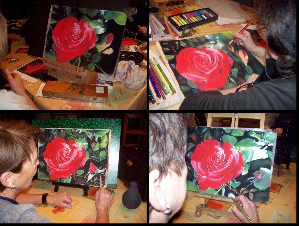 Cours sur la Rose....rouge