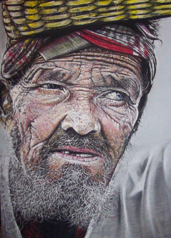 Le vieux Afghan (les marques du temps)