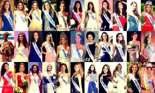--LES 33 CANDIDATES AU TITRE DE MISS FRANCE 2014--