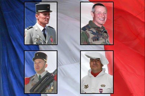 Les adjudants-chefs Fabien Willm et Denis Estin, le sergent-chef Svilen Simeonov et le brigadier-chef Geoffrey Baumela ont été tués en Afghanistan.