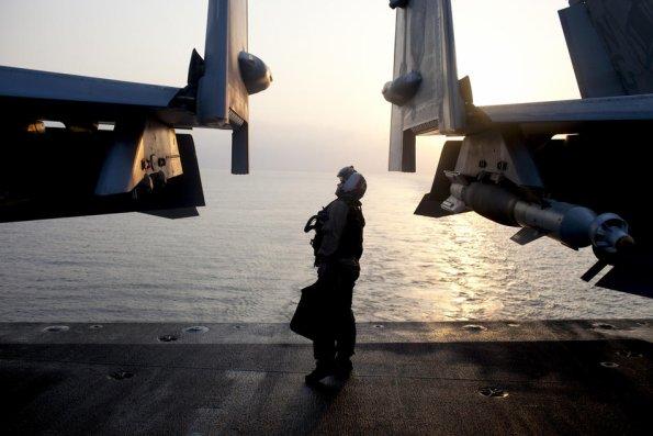 A bord du PA USS John Stennis  Mer d'Oman Janv 2012