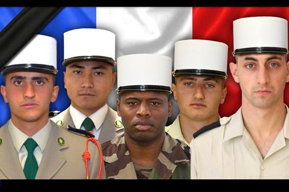 EN HOMMAGE AUX LEGIONNAIRES TOMBES  AU SERVICE DE LA FRANCE