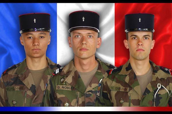 Hommage à ces trois soldats morts pour la France . Ancien Tringlot du GT 521 mon émotion est encore plus grande et je dis - Par St Christophe  Vive le TRAIN -