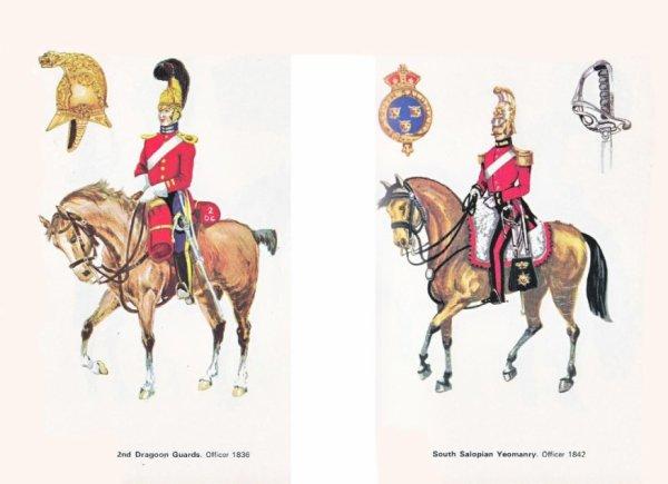 Uniformes de la Cavalerie anglaise au 19 e siecle