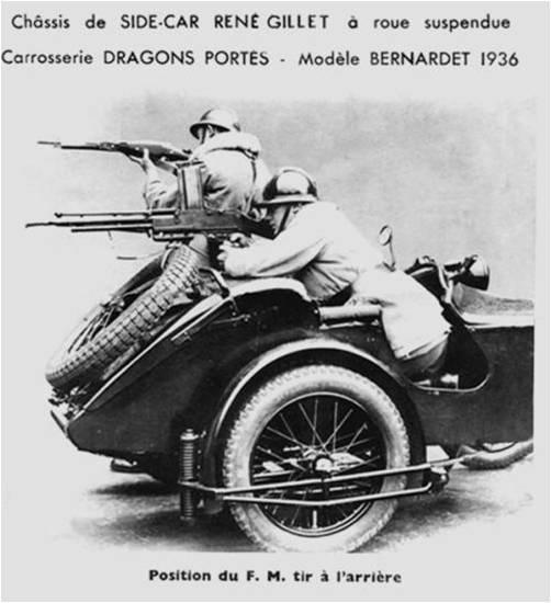 Le side-car coté militaire ...