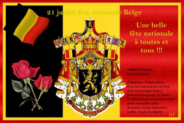 Bonne Fete Nationale à tous les belges du monde....