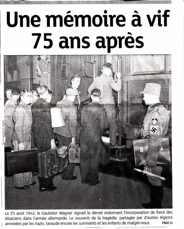 En hommage aux 3 membres de ma famille tombés sous l'uniforme honni . Le 75e anniversaire du décret  d'incorporation de force signe le 25-8-1942