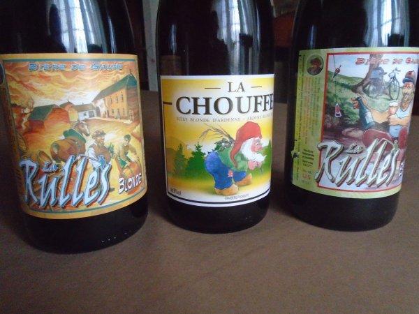 Pour mes amis belges une fois - Reçu hier ces bieres belges super bonnes vite disparues dans des gosiers de connaisseurs -
