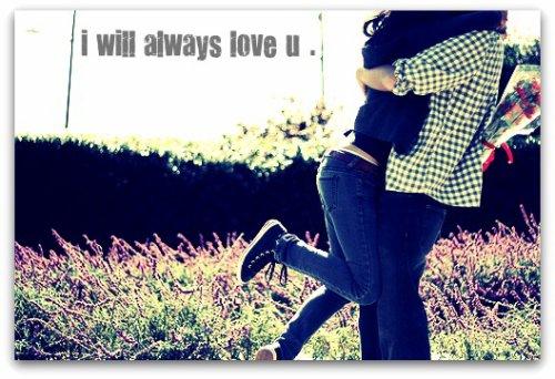 -i will always love you.    - haha !