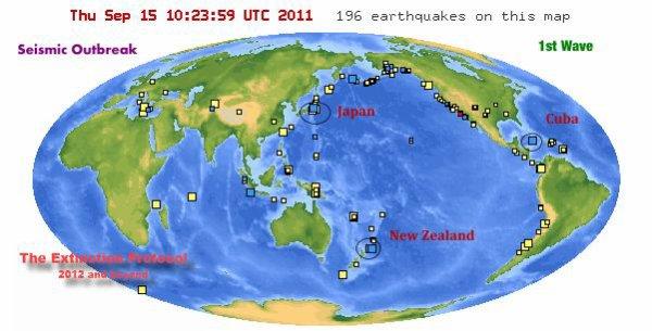 4 puissants séismes en moins de 14 heures, dont 3 en une heure seulement
