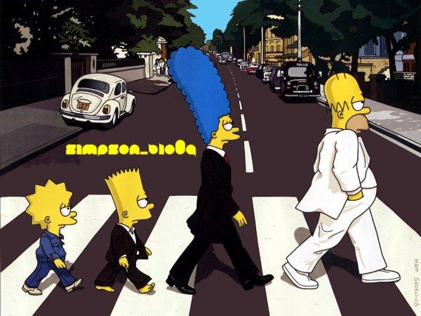 Les Simpsons (sans maggie) :)