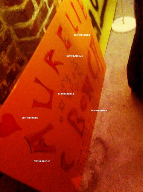 vidéo + photos du qg d'aurélie + message twitter de rudy