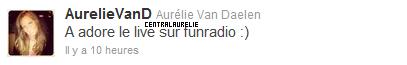 photos twitter + aurélie sur fun radio (belgique) + aurélie sera le 18 novembre a l'impac (10 km de mons) + nouvelle interview pour tv.mag + photos anniv + vidéo