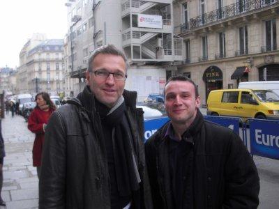 Avec LAURENT RUQUIER