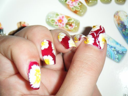 "SuMMer 2011 "" Essai nail art peinture acrylique """