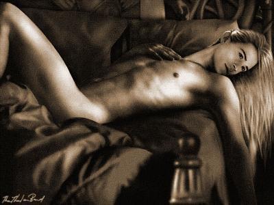 Légolas seul dans un lit avec ...... moi lol^^