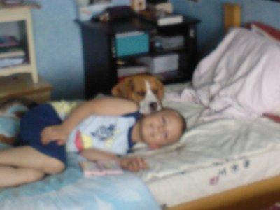 mon frere et mon chien