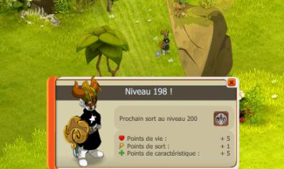 Up niveau 198 !