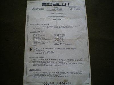 FICHE TECHNIQUE H MOTEUR UFOLEP LIQUIDE EVO 2 BIDALOT POUR GOLIATH 29