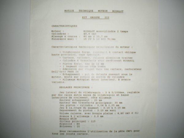 notice technique bidalot g3