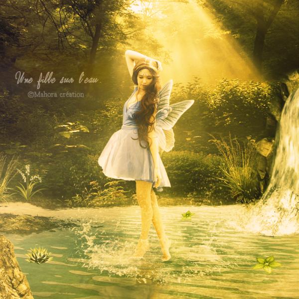 Photo montage : Une fée sur l'eau