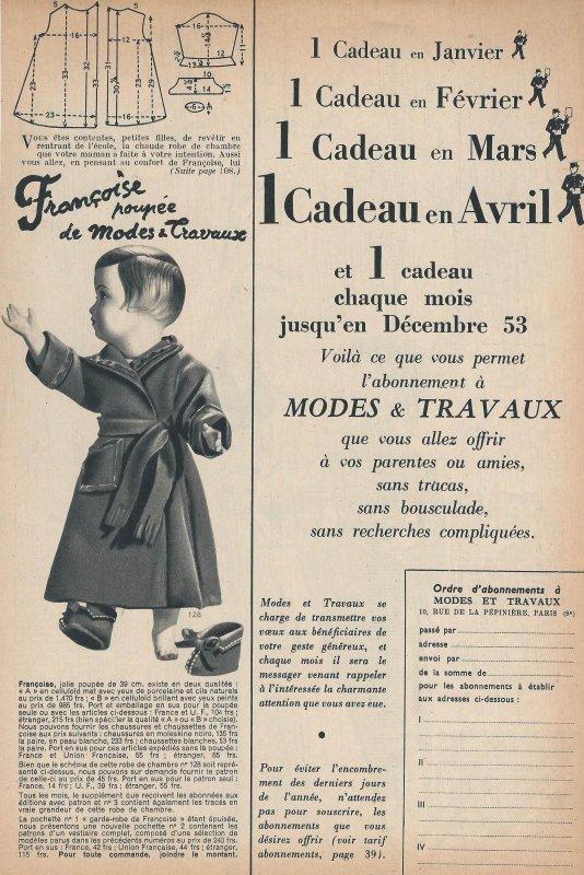 Décembre 1952 - robe de chambre de Françoise