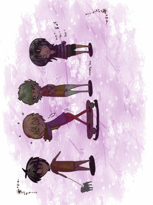 mes personnages chibis max,hugo,julien,juliette