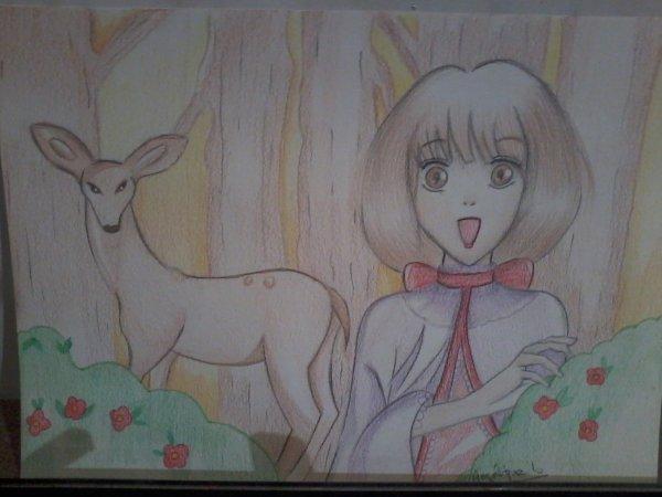 offert à ma tante, dessin que j'ai copier d'une artste mélina m