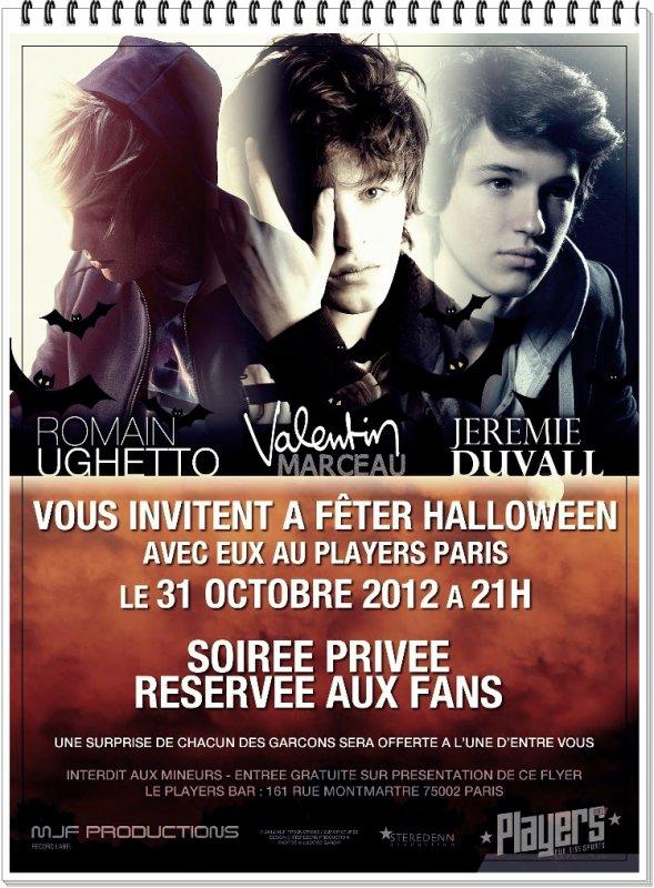 Halloween + premières dates concert