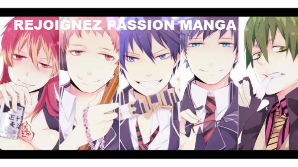 Rejoignez Passion Manga