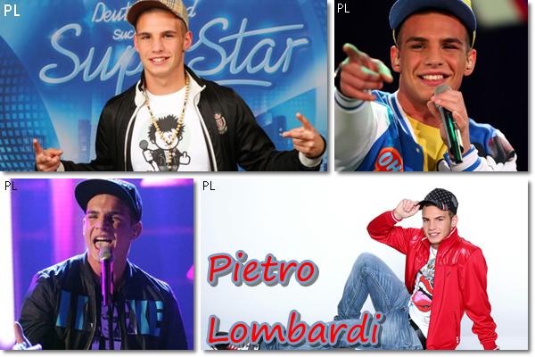 Pietro Lombardi (19) - jeune chanteur allemand/italien - participe à DSDS (version allemande de nouvelle star en fr.)