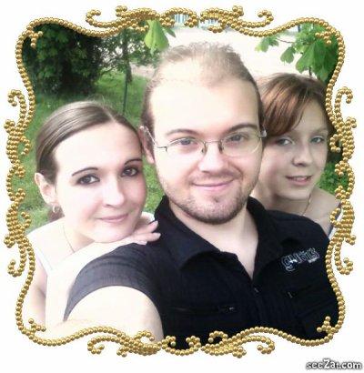 Ma nièce, mon frère et moi ^^