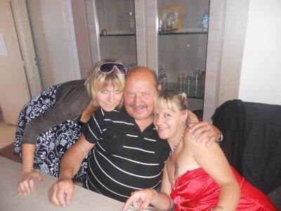 moi mon papa et ma soeur sab