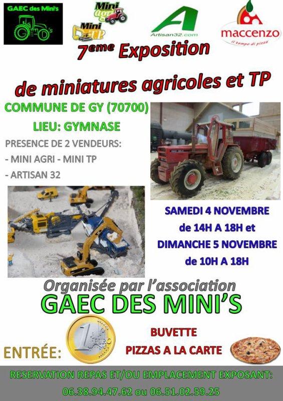 7ème exposition sera réalisé par le GAEC DES MINI'S le 1er week-end de novembre!  À partager sans modération!