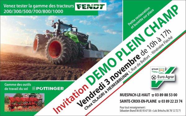 Rappel : la démo Pleinchamp Euro-Agrar aura lieu demain à Heimsbrunn 68