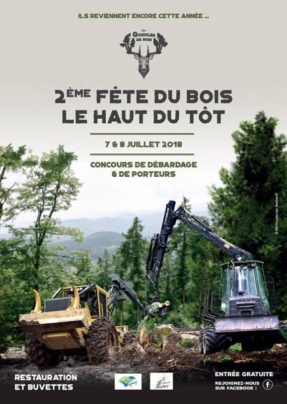 la fête du bois au Haut du Tôt (88) les 7 et 8 juillet 2018